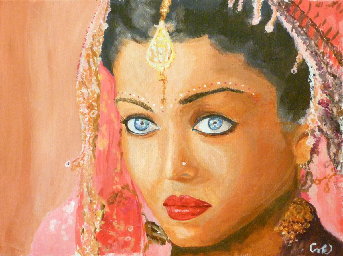 Portré festés akril festékkel festőtanfolyam 2. szint