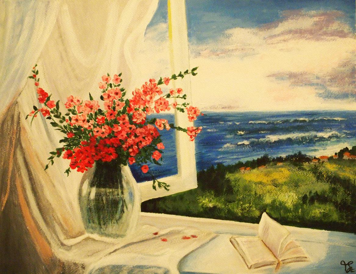 Festő tanfolyam 1. szint tájkép festés akril festékkel