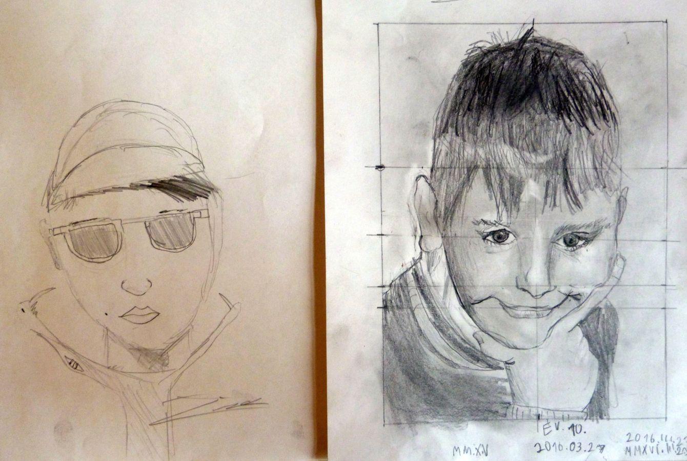 Jobb agyféltekés rajztanfolyam gyerekeknek első és utolsó nap