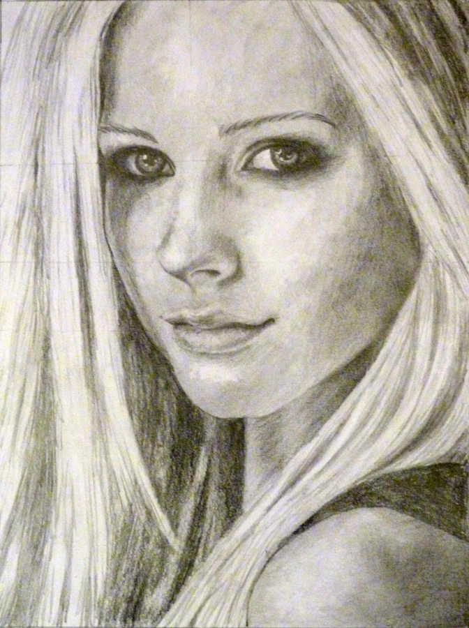Avril Lavigne portré rajz