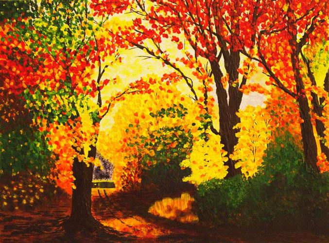 Online festőtanfolyam őszi táj