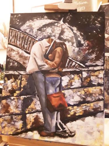 Digitális festő est akril festmény