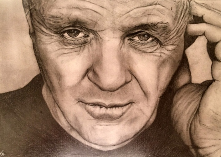 Grafitrajz Anthony Hopkins Valdor Art Rajz és Festő Iskola